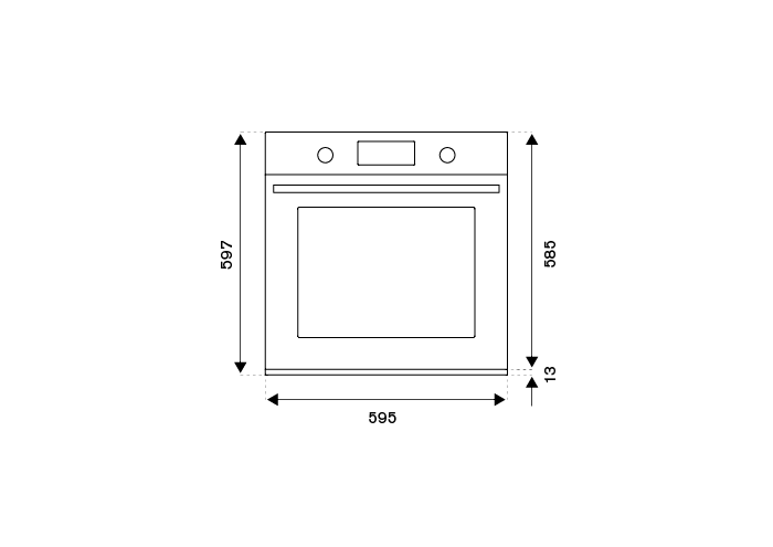 60cm Electric Built-in Oven, TFT display, total steam