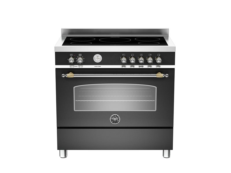 90cm induction top, electric oven | Bertazzoni - Nero Matt
