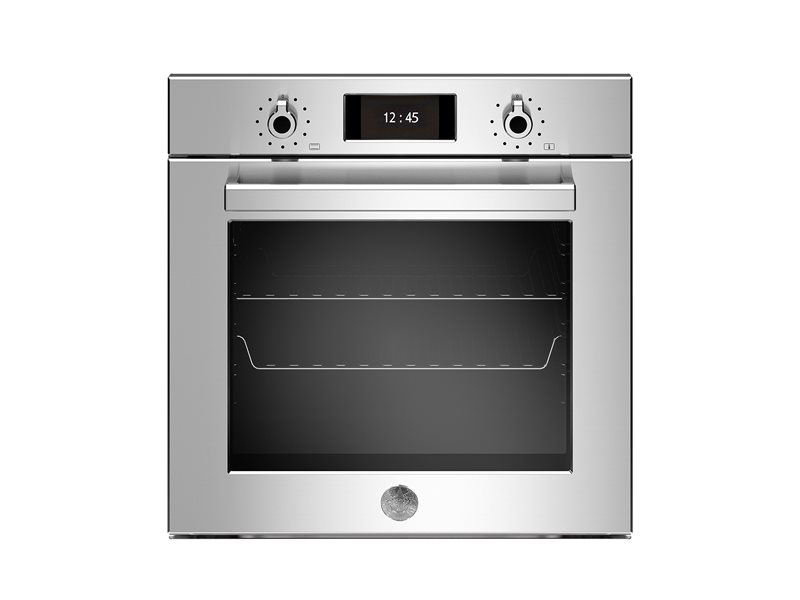 60cm Electric Pyro Built-in Oven, TFT display, total steam | Bertazzoni - Stainless Steel
