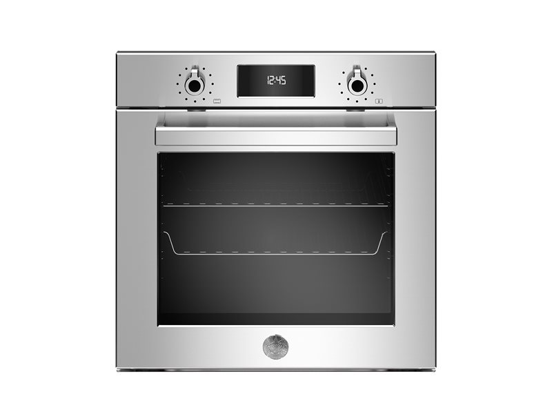 60cm Electric Built-in Oven LCD display, steam assist | Bertazzoni - Stainless Steel