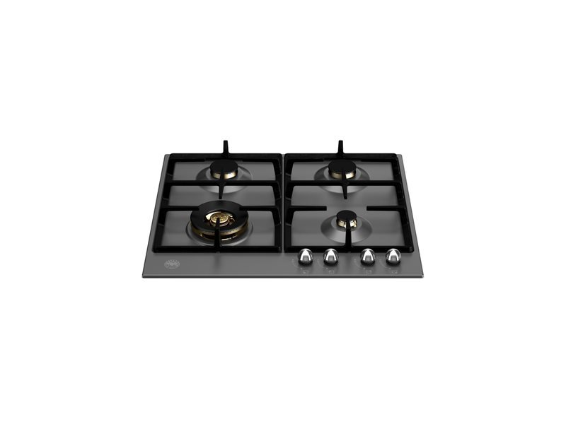 60 cm Gas hob with wok - Nero Matt