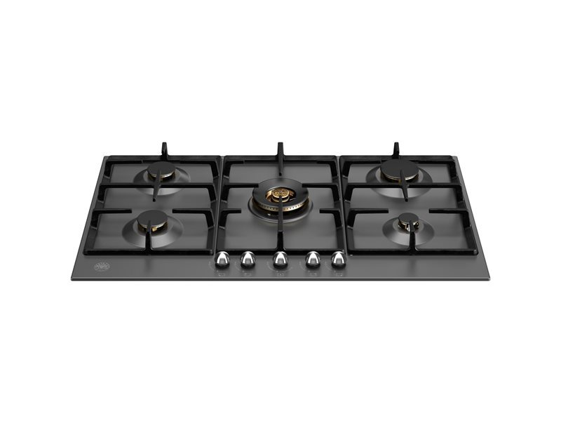 90 cm Gas hob with central dual wok | Bertazzoni - Nero Matt