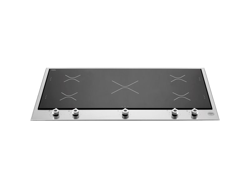 90 3-Segment 5 Induction Zones hob | Bertazzoni - Stainless Steel