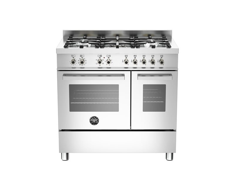 90 cm 5-burner electric double oven - Stainless Steel