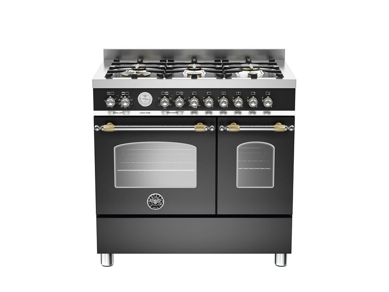 90 cm 6-burner electric double oven | Bertazzoni - Nero Matt