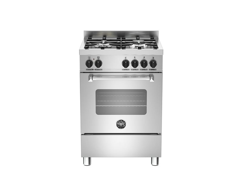 60 cm 4-burner gas oven | Bertazzoni - Stainless Steel