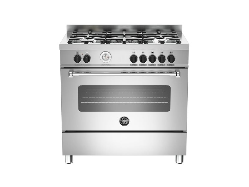 90 cm 5-burner electric oven | Bertazzoni - Stainless Steel