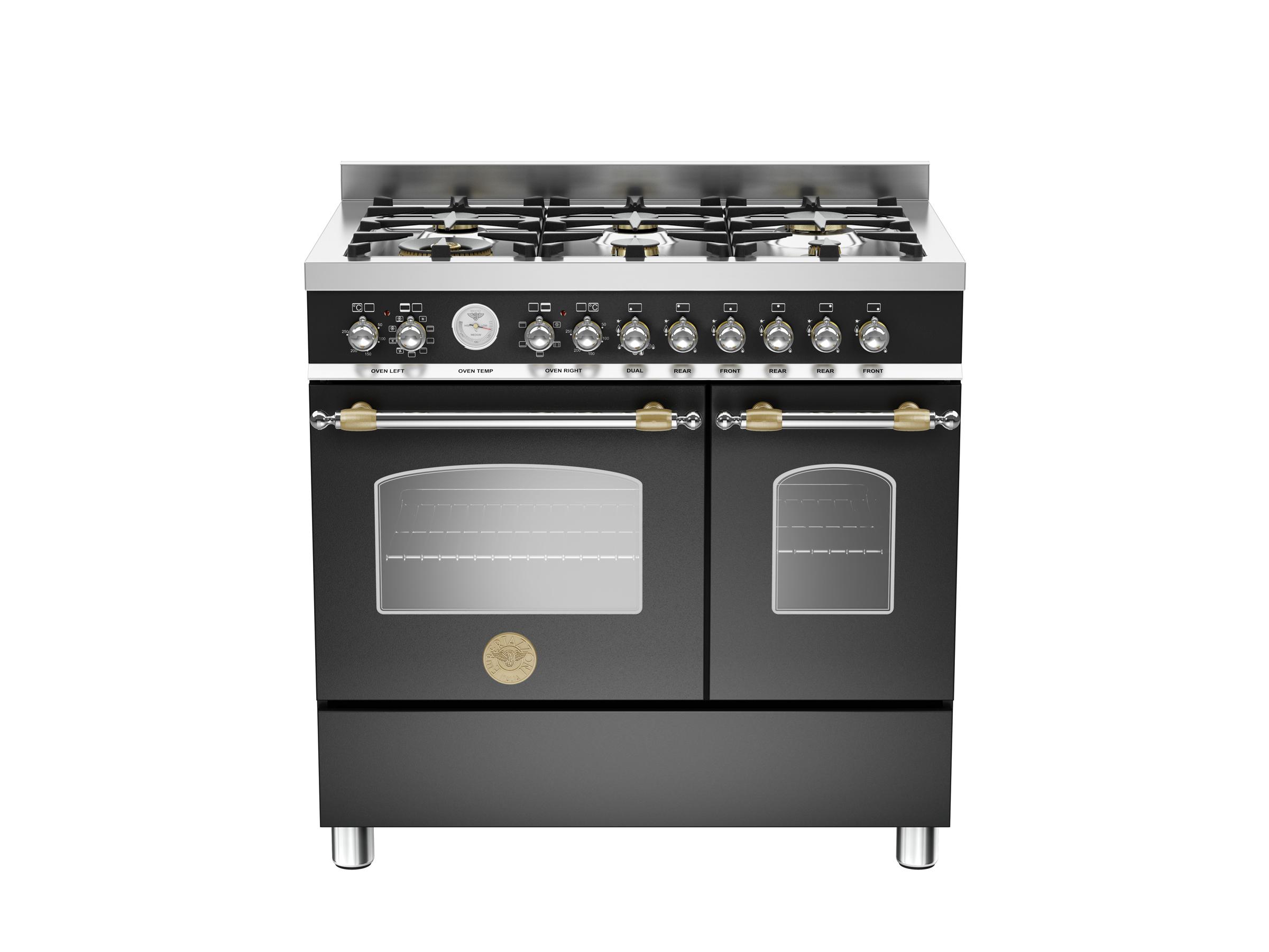90 cm 6-burner electric double oven | Bertazzoni