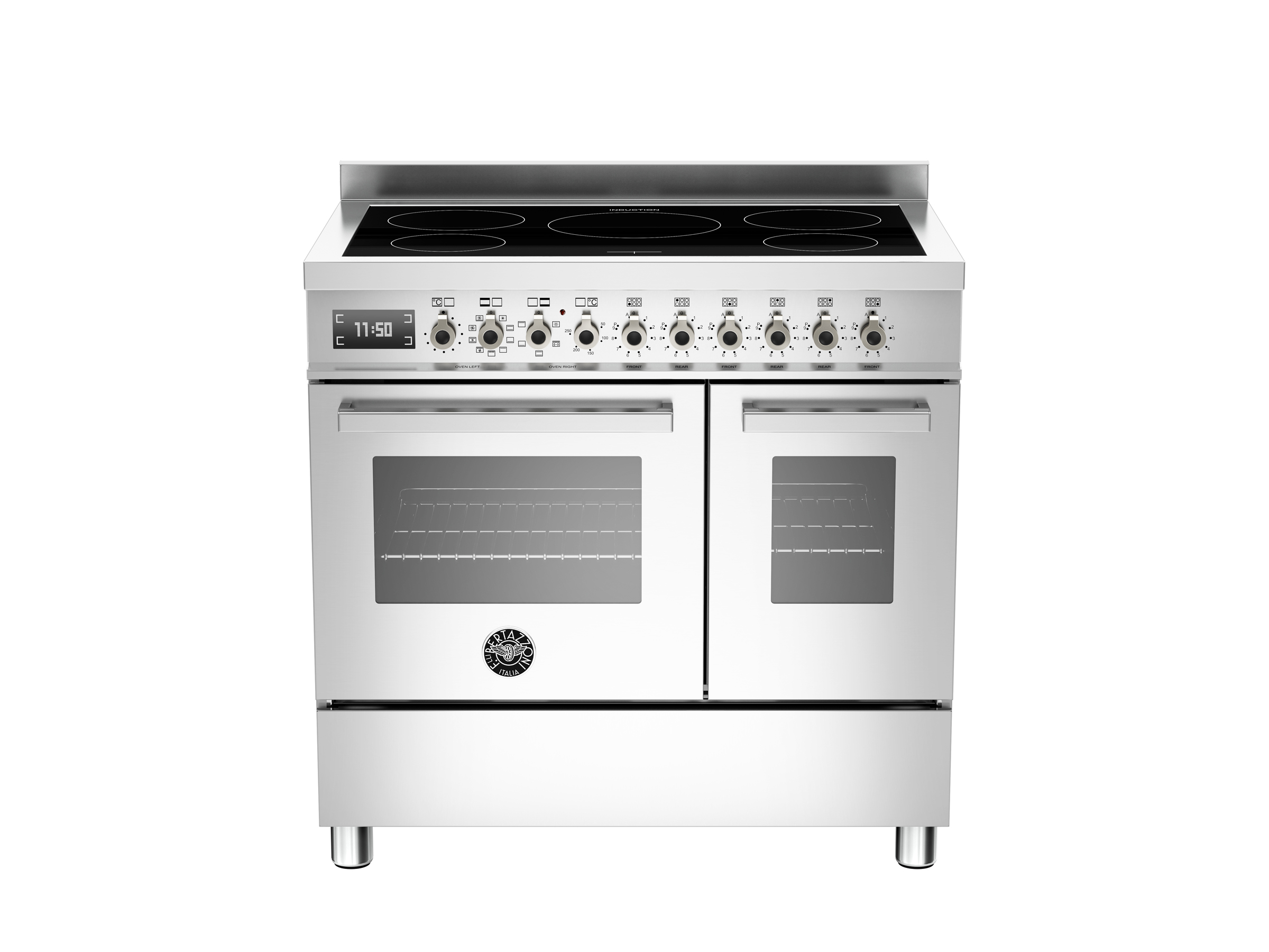 90 cm induction top electric double oven | Bertazzoni
