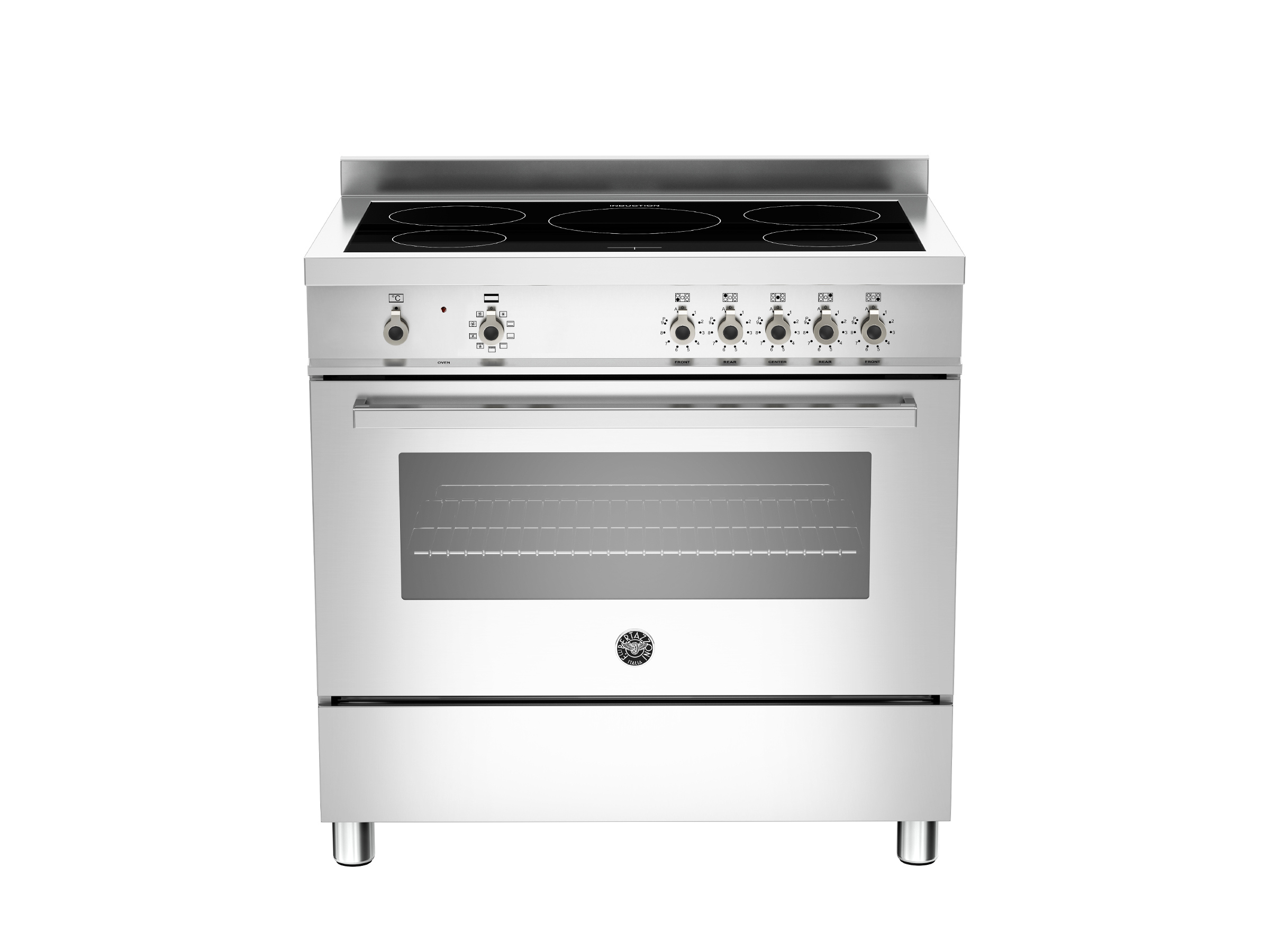 90 cm induction top, Electric Oven | Bertazzoni - Stainless