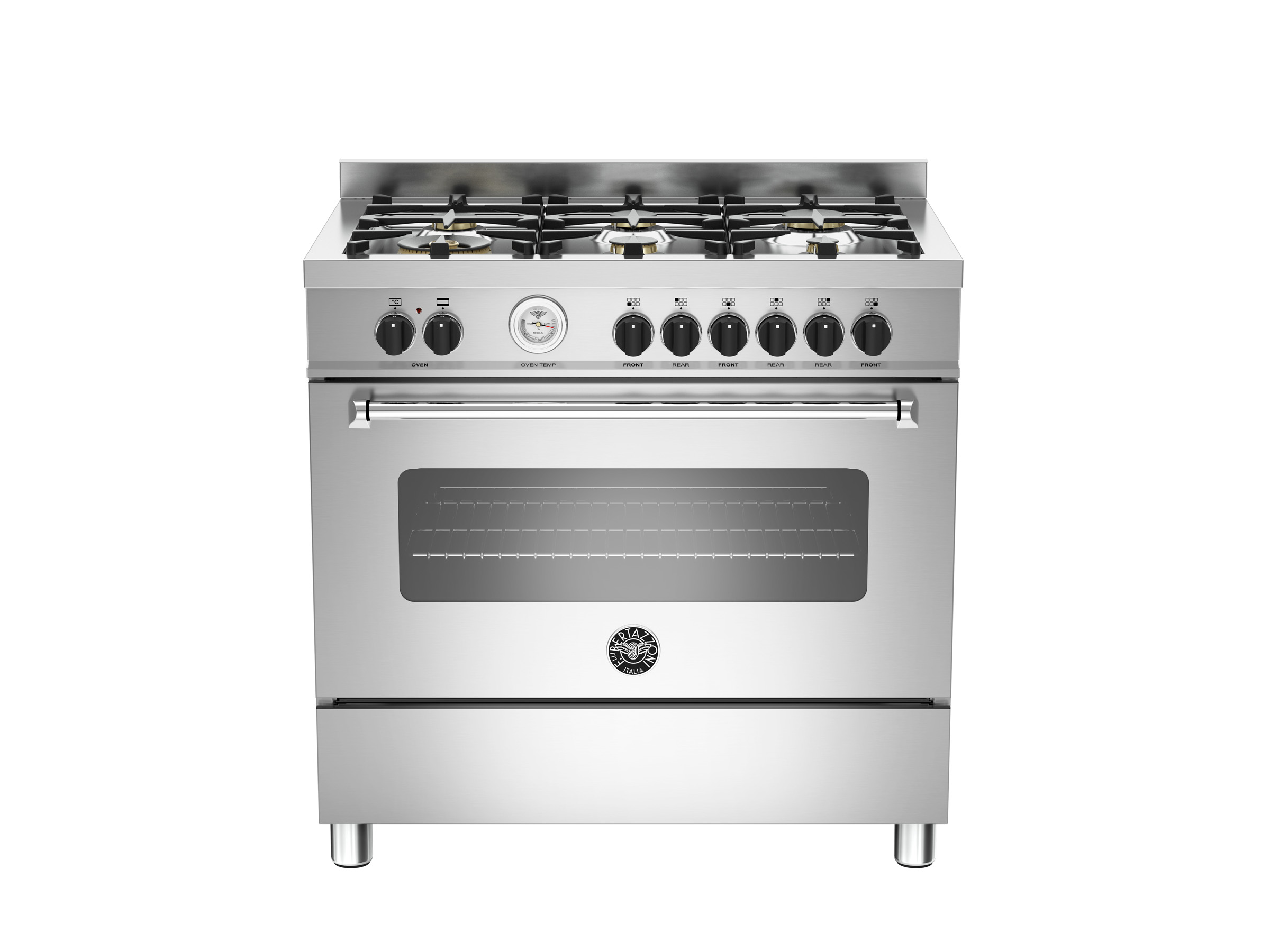 90 cm 6-burner electric oven | Bertazzoni - Stainless